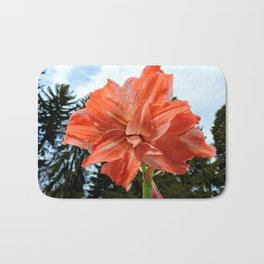Full Frontal Flower with Pines Bath Mat