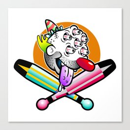 Clowny Roger Canvas Print