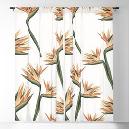 Birds of Paradise Flowers 2 Blackout Curtain