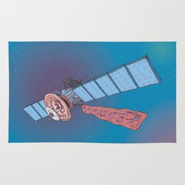 Satellite Frigate in space. Rug