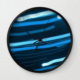 Blue Swizzle Wall Clock