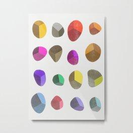 Painted Pebbles 2 Metal Print