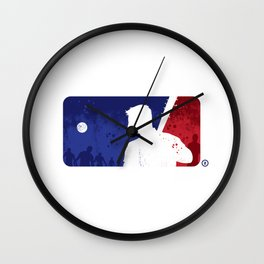 Man left behind Wall Clock