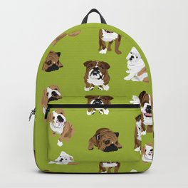 Bulldogs on Moss Backpack