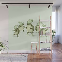 Dancing Turtles Wall Mural