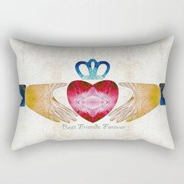 Friendship Love Art - Best Friends Forever - Sharon Cummings Rectangular Pillow