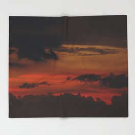 A Sky On Fire - 2 Throw Blanket