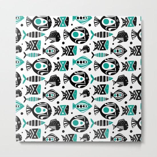 Deep Sea White Metal Print