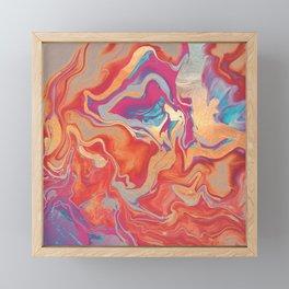 DRAMAQUEEN GOLD FIRE by Monika Strigel Framed Mini Art Print