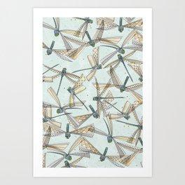 watercolor dragonflies Art Print