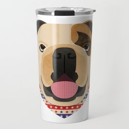 American Bulldog Dog Portrait Travel Mug
