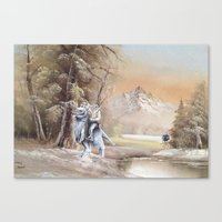 thegnarledbranch Canvas Prints featuring Being Followed by TheGnarledBranch
