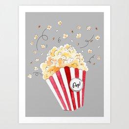 crazy popcorn Art Print
