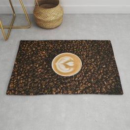 Coffee Beans & Coffee Cup Rug