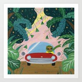Tropical Road Trip Art Print