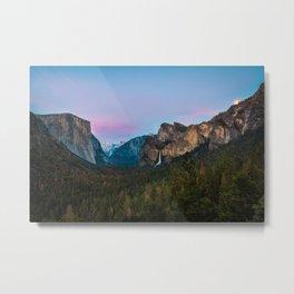 Yosemite Valley Sunset Metal Print