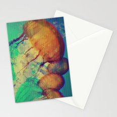aquatic waveform Stationery Cards
