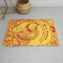 1966 Bob Dylan Live at Royal Albert Hall Concert Gig Poster Rug