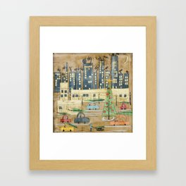 Driving Home for Christmas Framed Art Print