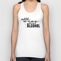 alcohol Tank Tops featuring NOTES OF ALCOHOL by Sandhill
