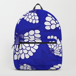 African Floral Motif on Royal Blue Backpack