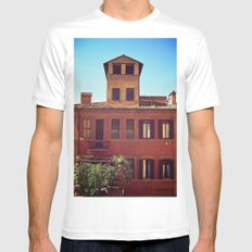Home is where the Sun is MEDIUM White Mens Fitted Tee