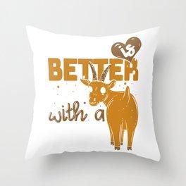 Goat Shepard Herder Ladz Farmer Gift Throw Pillow