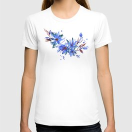 Cute watercolor hand painted flowers T-shirt