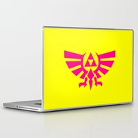 triforce Laptop & iPad Skins featuring Contrast Triforce by Rebekhaart