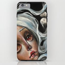 White Spirits :: Pop Surrealism Painting iPhone Case