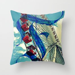 Letter F is for Ferris Wheel and Bueller Throw Pillow
