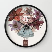 coffe Wall Clocks featuring Coffe time by flaviasorr