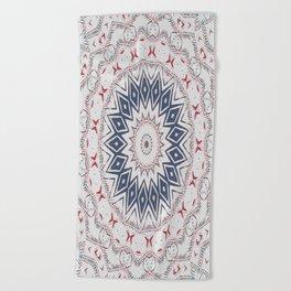 Dreamcatcher Berry & Blue Beach Towel