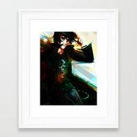 viria Framed Art Prints featuring Nico di Angelo by viria