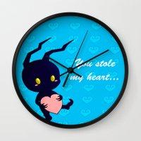 kingdom hearts Wall Clocks featuring Kingdom Hearts - Heartless by UncannyViolet
