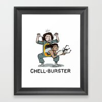 Chell Burster Framed Art Print