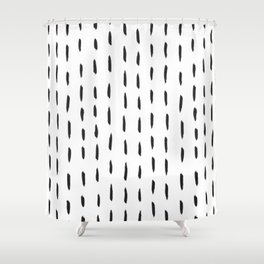 Lines like rain Shower Curtain