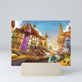 The Bavarian Village Mini Art Print