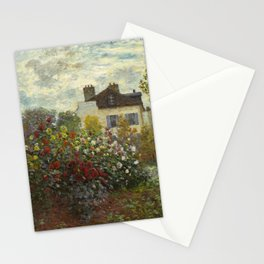 Claude Monet The Artist's Garden In Argenteuil Stationery Cards