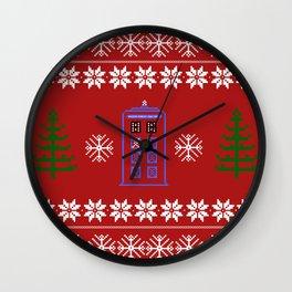 TARDIS CHRISTMAS SWEATER Wall Clock