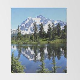 Mt. Shuksan and Reflection Throw Blanket