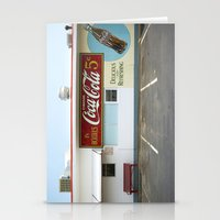 coca cola Stationery Cards featuring Coca Cola by Jon Cain