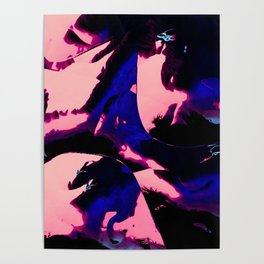 Soft pink neon lights Poster
