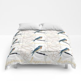 Bluebird of Happiness Comforters