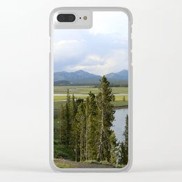 Yellowstone River Valley View Clear iPhone Case