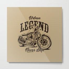 Legend Motorcycle Illustration Metal Print