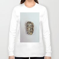 gold foil Long Sleeve T-shirts featuring Gold Foil by Terriffico