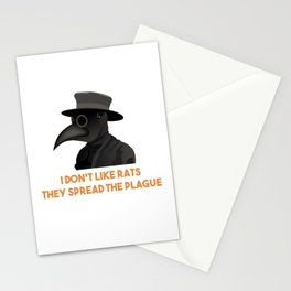 Medieval Plague Doctor Doesn't Like Rats Stationery Cards