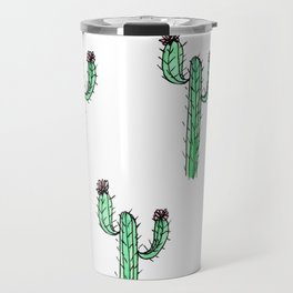 Cactus Flower II Pattern Travel Mug