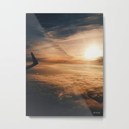 from the plane window Metal Print